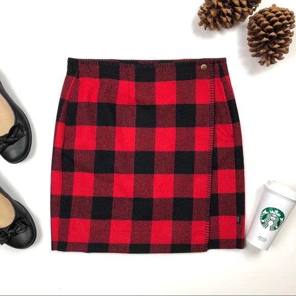 5f647a7f4 Woolrich Richville Red Buffalo Plaid Wool Skirt. M_5be0f561aa8770a34bac1167